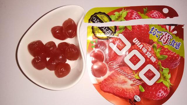 kororo Strawberry - truskawkowe japońskie żelki w misce