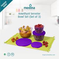 Dusdusan Amethyst Servstor Bowl Set (Set of 3) ANDHIMIND