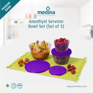Amethyst Servstor Bowl Set (Set of 3)