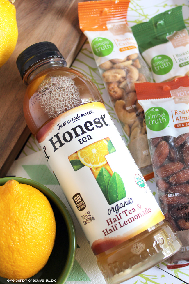 Honest Tea, half tea & half lemonade, Simple Truth, organic snacking