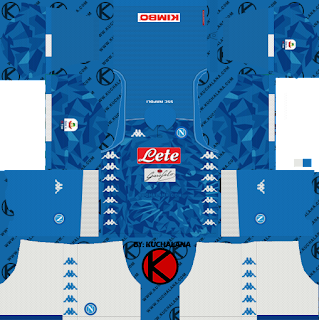 SSC Napoli 2018/19 Kit - Dream League Soccer Kits