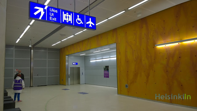 elevators connection airport and its new train station