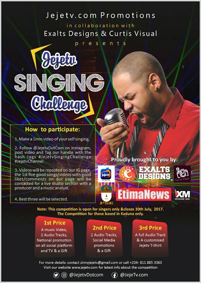 #JejeTv Singing Challenge kicks off today! (See Prices + Details) #JejetvSingingChallenge @JejetvDotCom