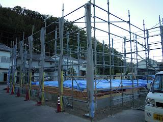 新築工事 自由設計 O邸 島根県浜田市 浜松建設株式会社 棟上げ