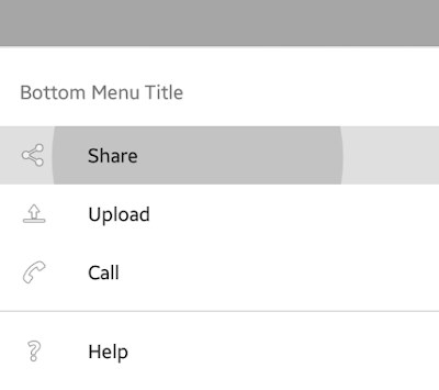 Android Example: Bottom Menu Example with SlideUp Animation Effect