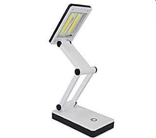 lampada da tavolo 2x3w cob led pieghevole