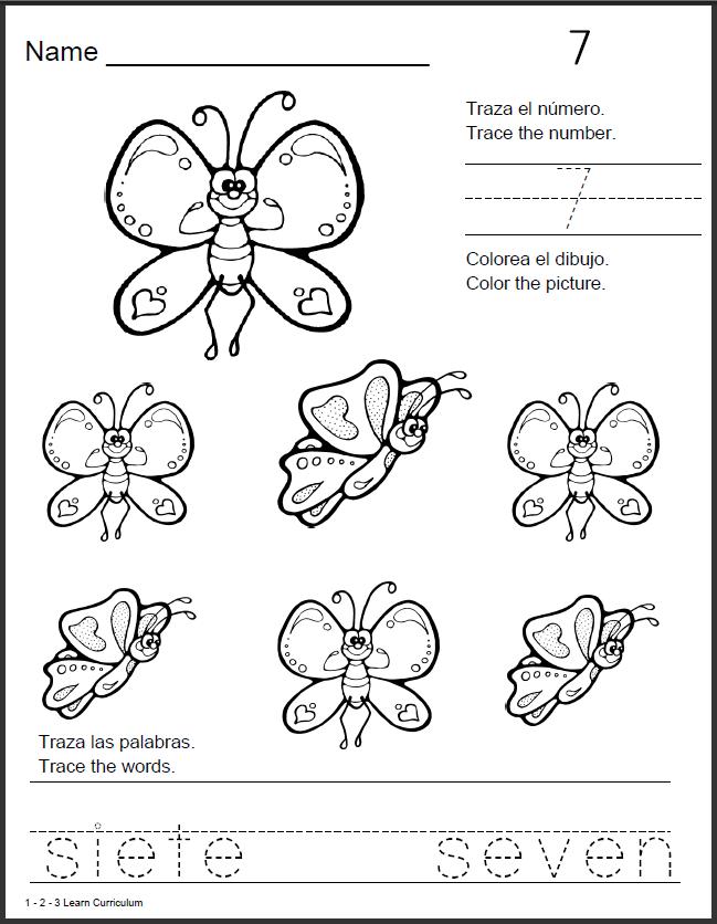 Printables Preschool Spanish Worksheets 1 2 3 learn curriculum spanish shape worksheets worksheets