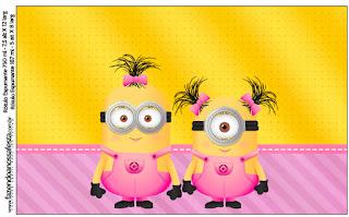 Etiquetas de Minions Chicas para imprimir gratis.