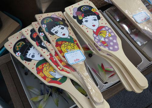 Hagoita on sale in Tokyo, Japan
