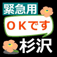 Emergency use.[sugisawa]name Sticker