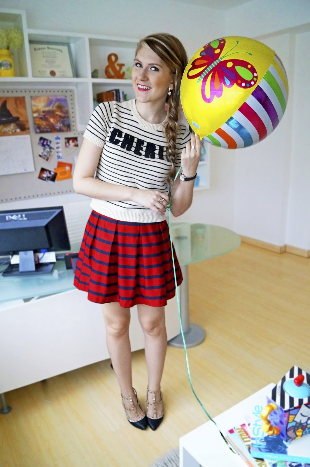 Click through to see two other ways to style this striped skirt