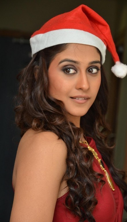 Regina Cassandra Photoshoot In Maroon Dress
