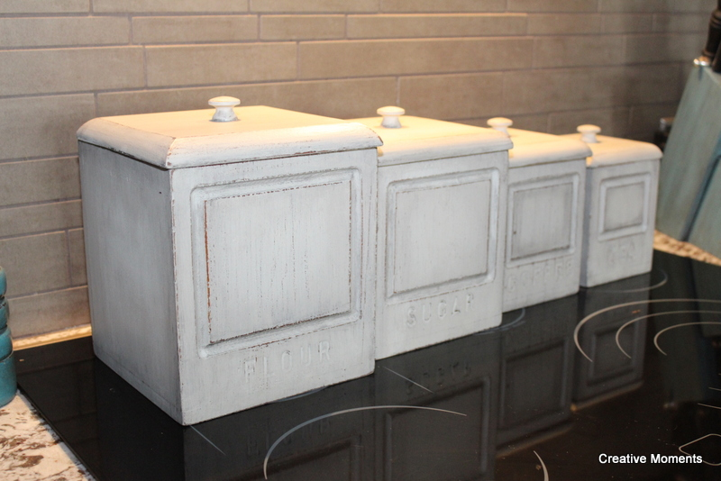 Wooden canister set reloved in fusion39s putty for Homestead furniture wax
