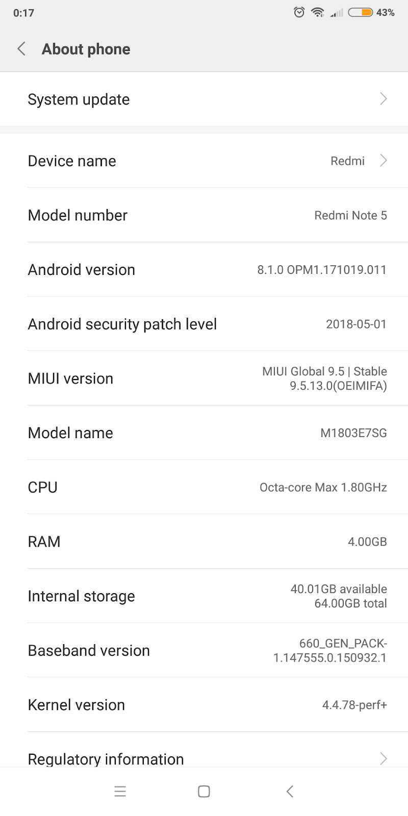 Gadgets and stuff: First Update V9 5 13 0 OEIMIFA is