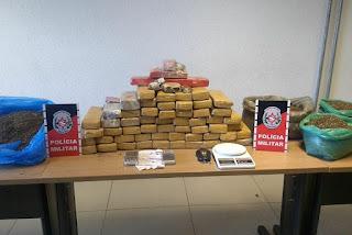 Polícia localiza quase 50 quilos de maconha em casa abandonada na Paraíba