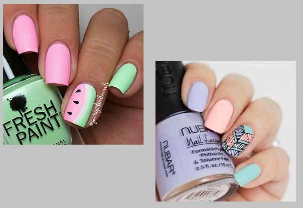 trendy manicure paznokcie