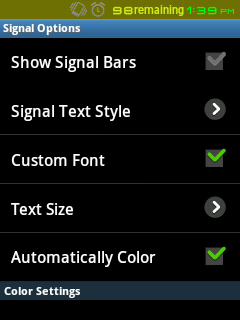 Signal Options - Change style of Network Signal Bars