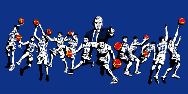 JungYoun Kim 김정윤 - #YellowMenace Basketball Art Collection
