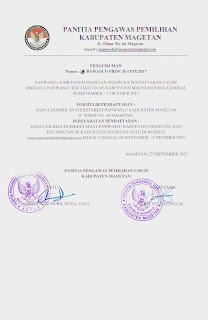 Dicari, Anggota Panitia Pengawas Pemilu Kecamatan