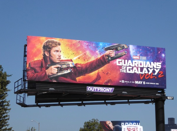 Guardians of the Galaxy 2 star lord billboard