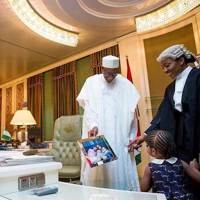 Pres. Buhari celebrated his children in the State House, Abuja vvv