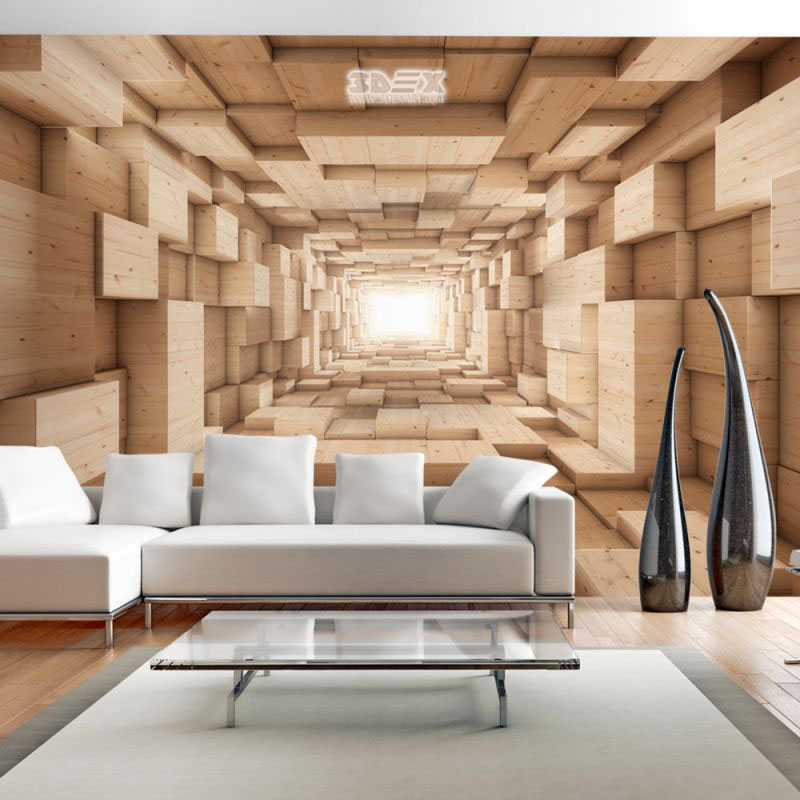 15 best 3d effect wallpaper designs visually enlarge room for Top 10 living room wallpaper