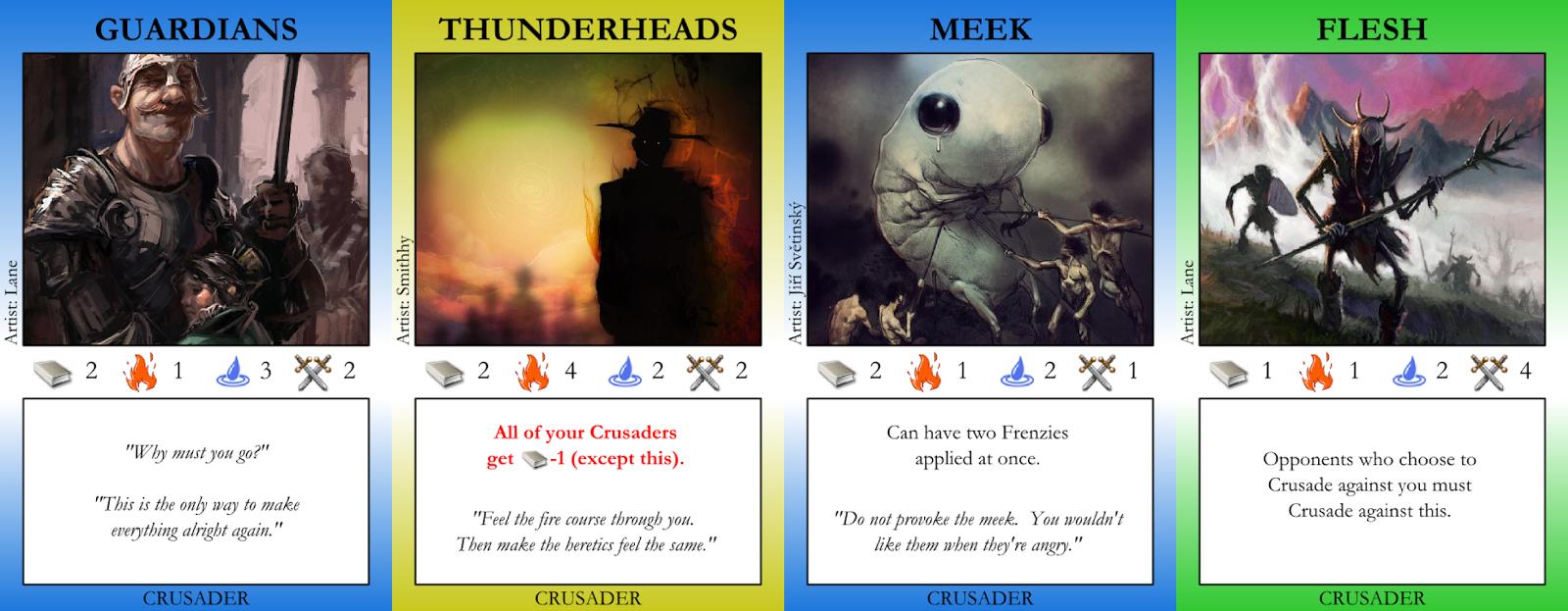 Guardians, Thunderheads, Meek, Flesh