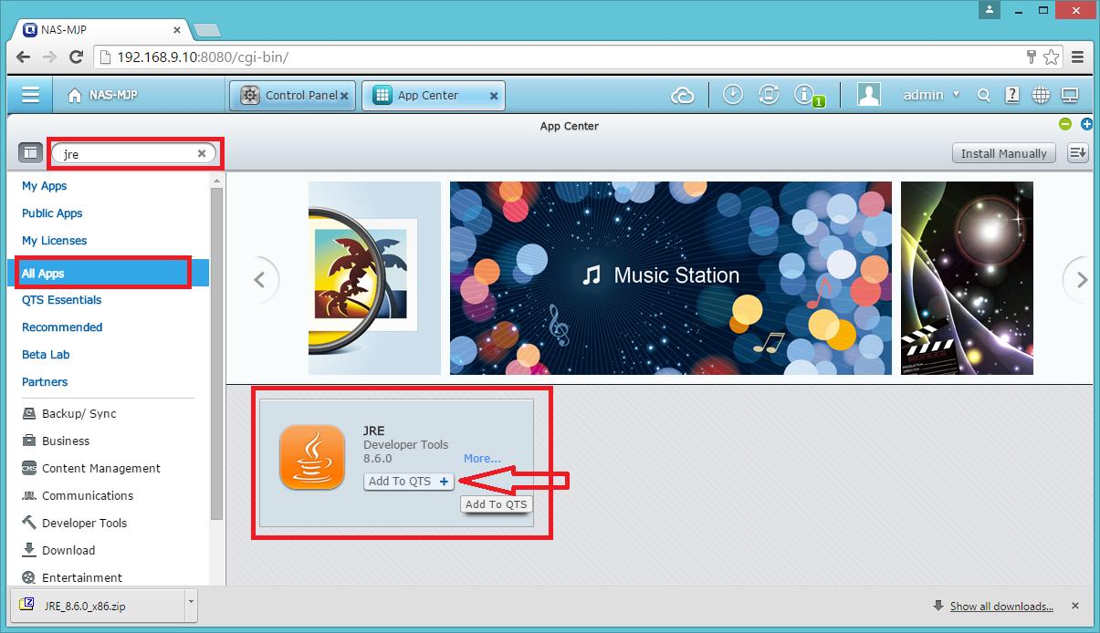 SmartD Home Automate: การติดตั้ง OpenHab บน QNAP