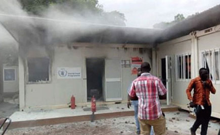 Angry mobs attacks UN offices