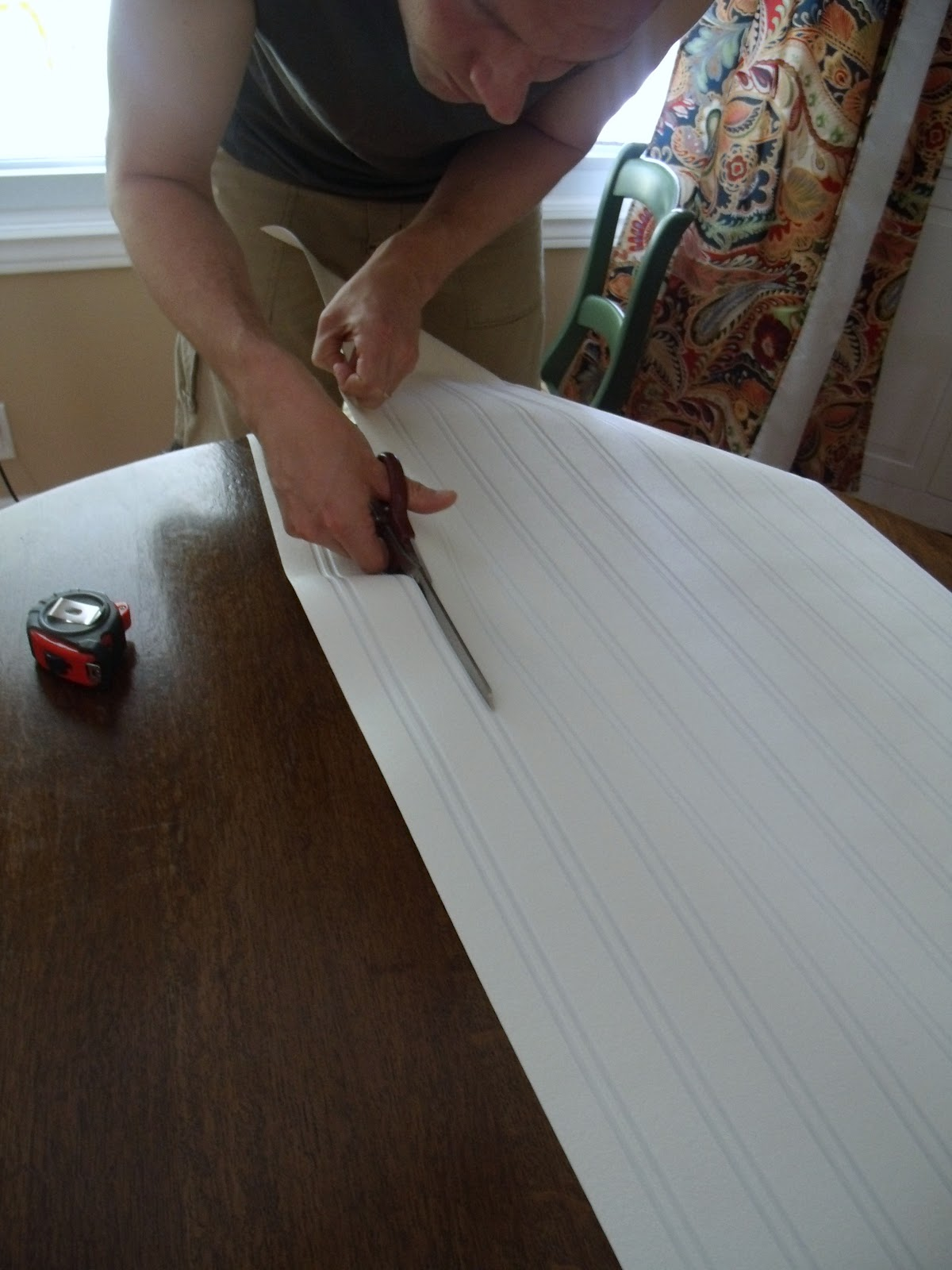 Beadboard Chair Rail Atlanta Recliner How To Install Paintable Wallpaper | Frugal Family Times