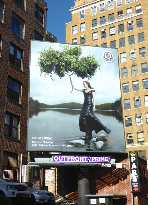 Montcler FW16 fashion billboard NYC