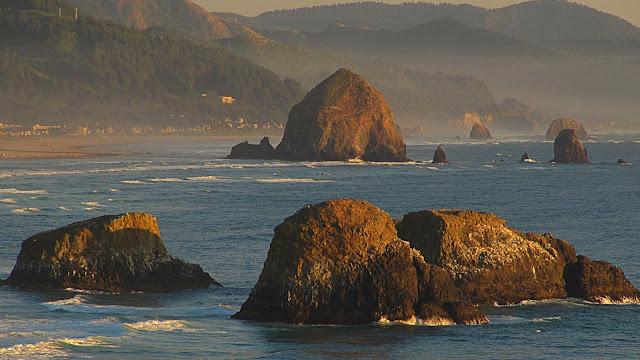 Oregon's Haystack Rock...