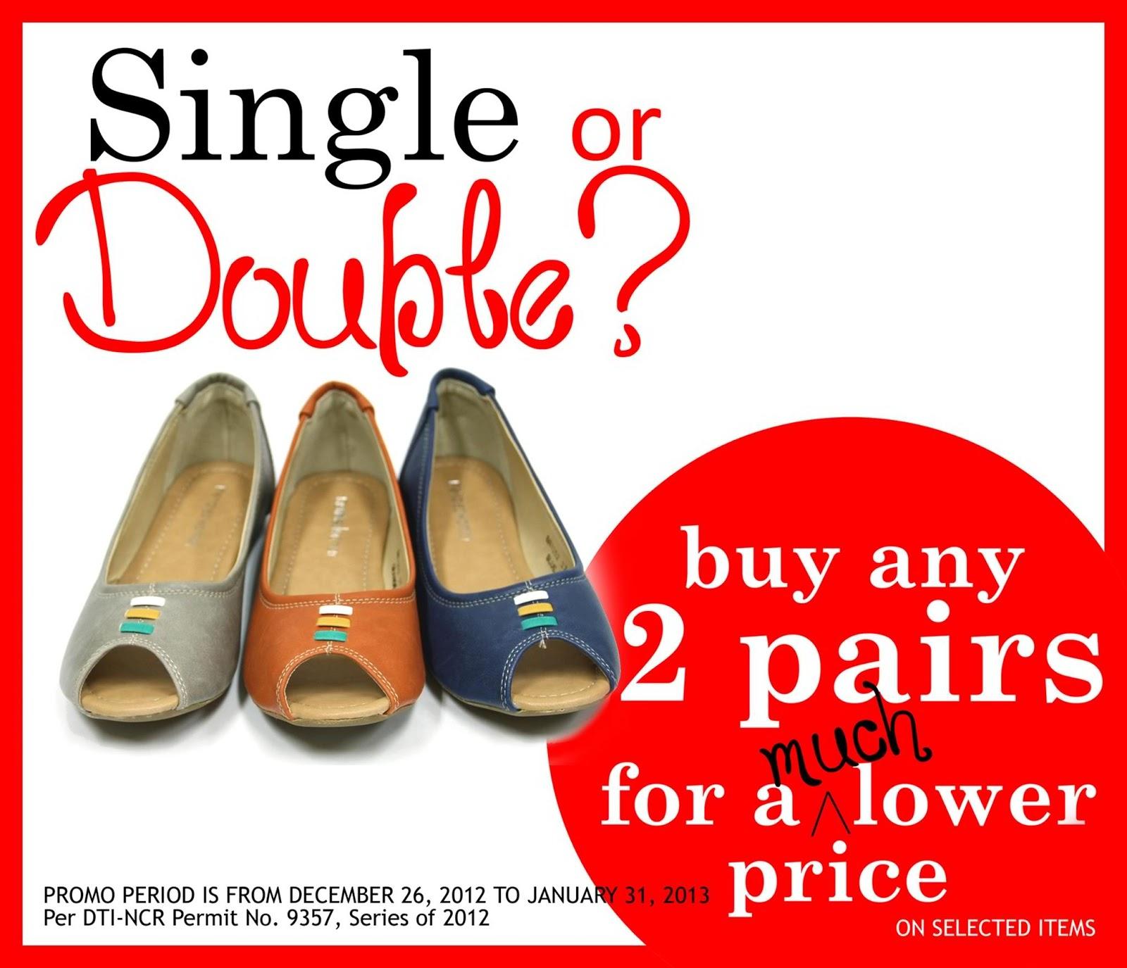 3aa45d0da37 Mendrez Single or Double Promo  December 26 - January 31