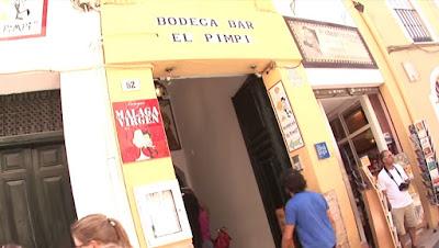 Entrada a bodega El Pimpi-Málaga