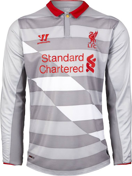 97d4e1719 The new Liverpool 2014-15 Goalkeeper Home Shirt is based on the same  template as the Home Kit and comes in purple with black accents. The Warrior  and ...