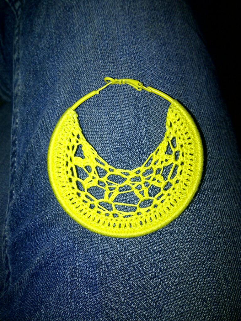 Thread Story: Pattern time! - Crochet Hoop Earrings Pattern