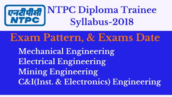 NTPC Diploma 2018