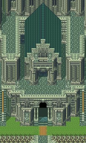 Secret of Mana - Banner vertical templo