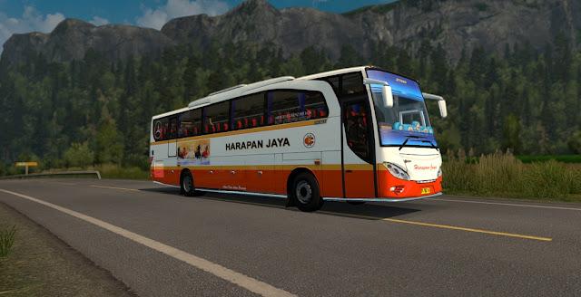 Mod bus ets2 jetbus HD chasis tronton 6x2 harapan jaya