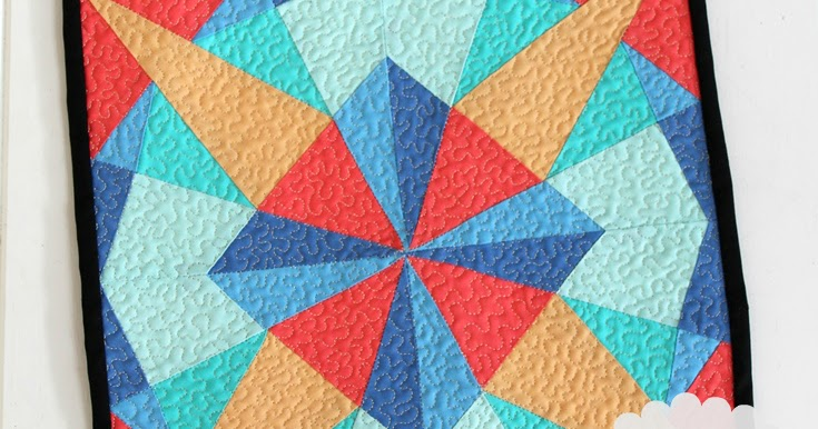 Monthly Calendar Quilt Patterns : Threadbare creations kaleidoscope mini quilt your free
