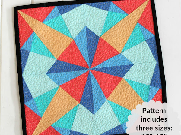 Kaleidoscope Mini Quilt + Your Free June 2017 Calendar