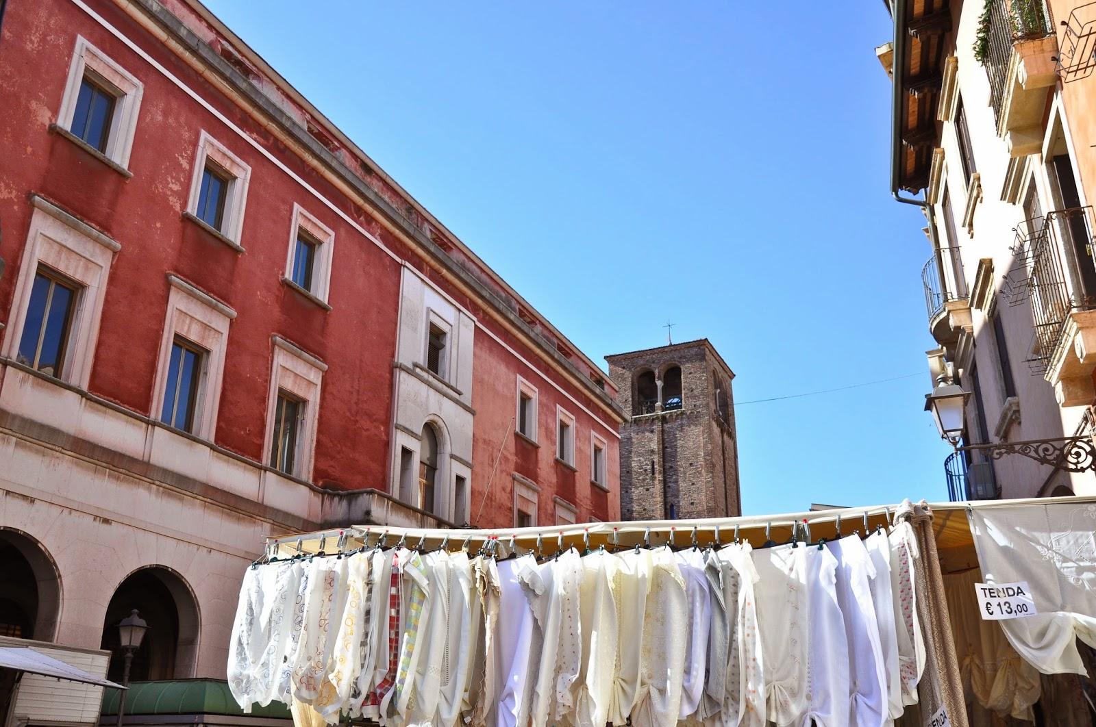 Fabrics at the Thursday market in Vicenza, Italy-2