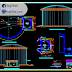 مخطط مشروع خزان 1000م3 كاملا اوتوكاد dwg