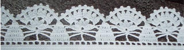 Patrón #1560: Puntilla a Crochet