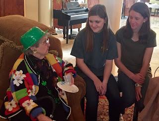 Catholic's Key Club Celebrates St. Patrick's Day at Wesley Gardens in Montgomery 3