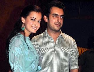 Dia married with businessperson Sahil Sangha