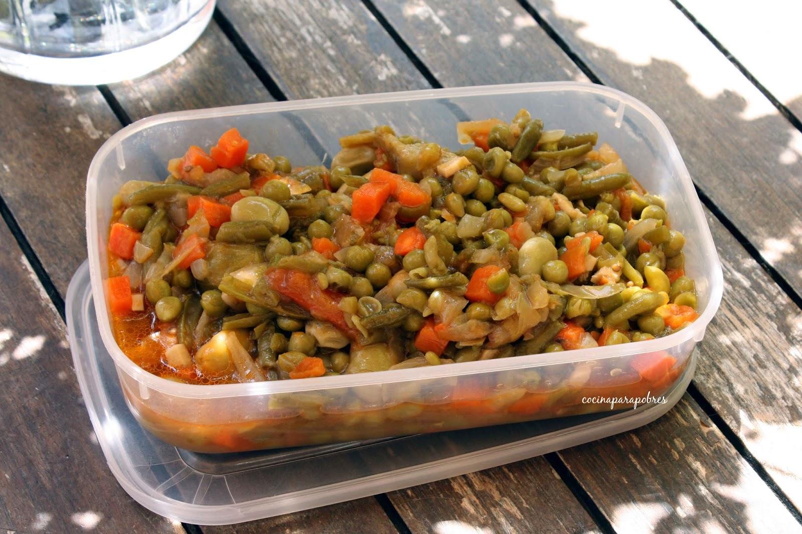 Cocina para pobres menestra de verduras en salsa - Como preparar menestra de verduras ...