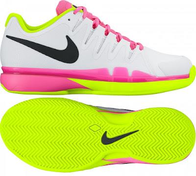 Dámská antuková obuv Nike ZOOM VAPOR 9.5 TOUR Clay 649087-107 neonová