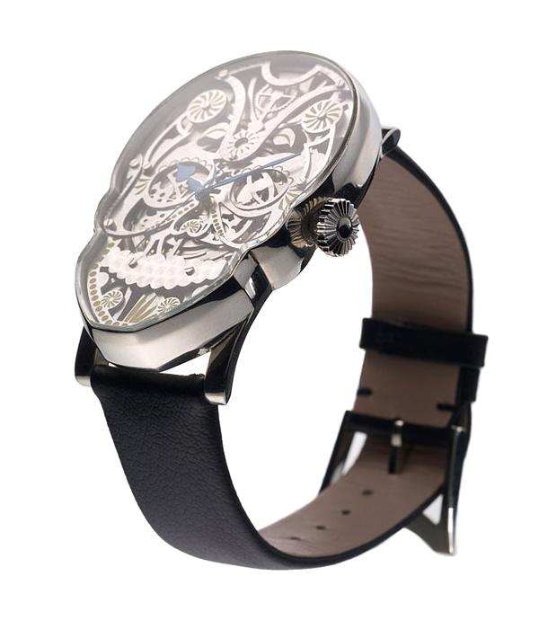 Diseño de reloj estilo catrina