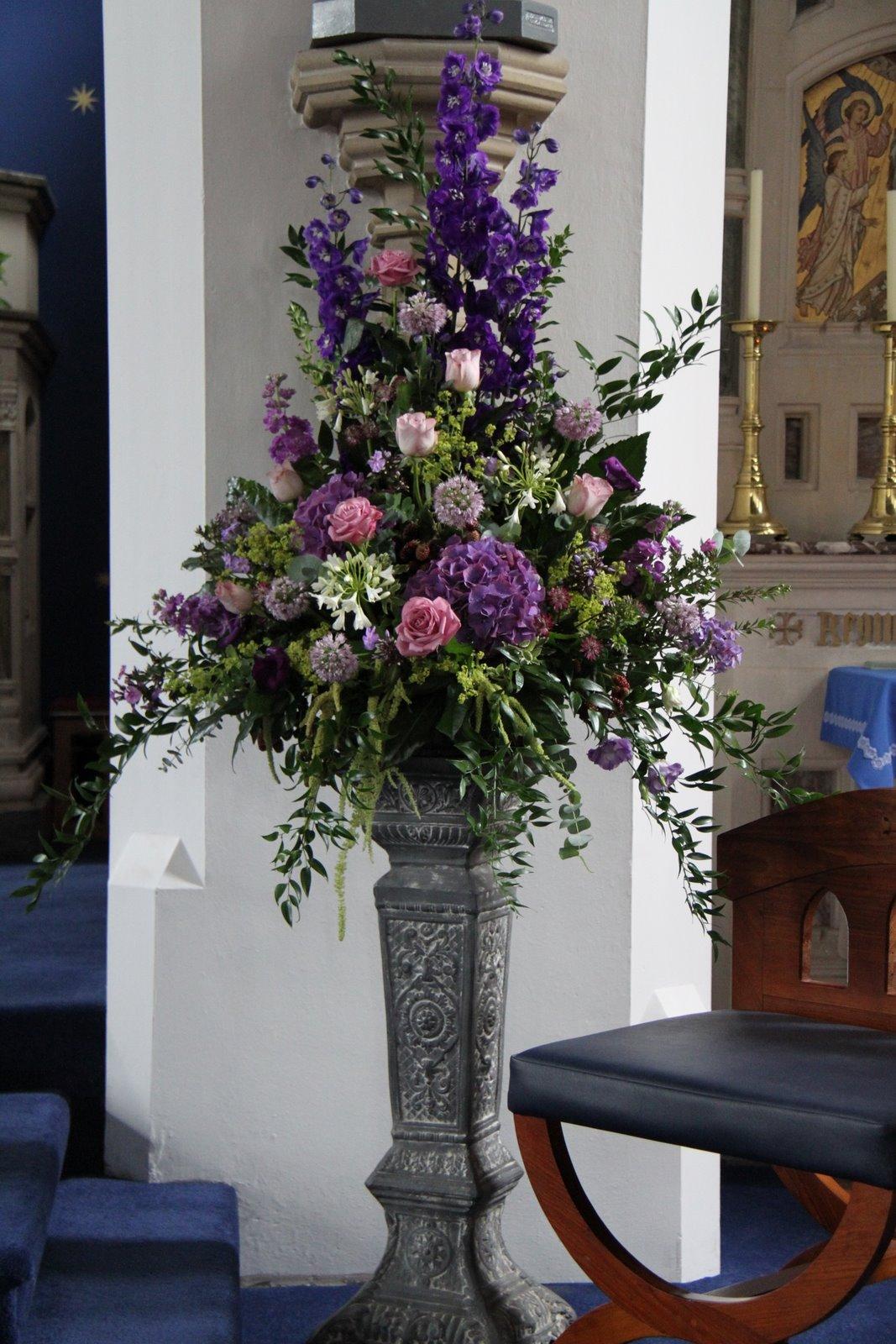 Flower Design Wedding Ceremony Styling Elegant Pedestals